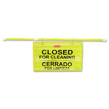 Rubbermaid Commercial 9s1600yl Site Safety Multi Lingual Hanging Sign Yellow