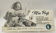 Rare 1950 Miss Peep Doll Large Advertising Standup Sign Cameo Doll