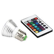 E27 3W RGB Multicolor LED 16 Color Changing Lamp Light Bulb + IR Remote Control