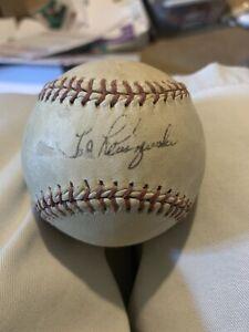 TED KLUSZEWSKI SIGNED AUTOGRAPHED BASEBALL Cincinnati Reds JSA Authenticated