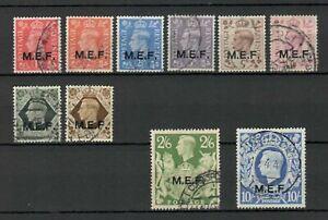 s23103) M.E.F. 1943/47 Very Fine Used Definitives 10v Sassone 6/14 + 16 (NO 5s)