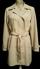 I MADISON Belted Beige Double Breasted Trench Coat/Jacket Lined  Size  M