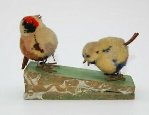 Very Rare Vintage Steiff Pom Pom Zwitscherpaar Birds Wool Miniature~Teddy Bear