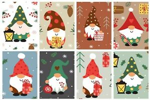 CHRISTMAS GNOMES (2)  -  2 x A4 SHEETS OF CARD TOPPERS - SCRAPBOOKING - 250GSM