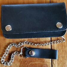 "Leather 6.5"" Biker Trucker Chain wallet"