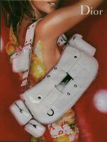 Publicité contemporaine accessoire de mode Dior 2003 issue de magazine