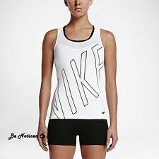 (tg. Large) Nike W NP Hprcl Tank Explode Logo - Maglietta Bianco L Donna
