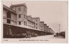 Manchester Ship Canal Docks, The Sheds 1913 RP Postcard, B596