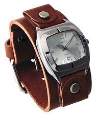 Nemesis BGB090S Women's Retro Collection Brown Junior Leather Cuff Band Watch