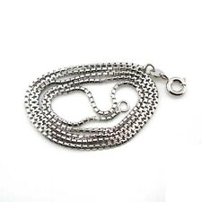 """18k White Gold Filled Necklace 18""""Chain Slim Link Gf Charms Fashion Jewelry Gift"""