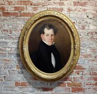 19th century Portrait of a Young Aristocratic Man-Oil painting c.1830s