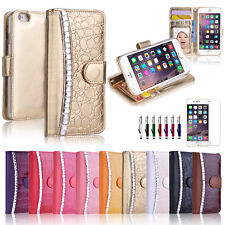 Diamond Snake WALLET CARD FLIP CASE COVER For Apple iPhone 6S & 6S Plus
