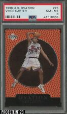 1998 Upper Deck Ovation #75 Vince Carter Raptors PSA 8 NM-MT