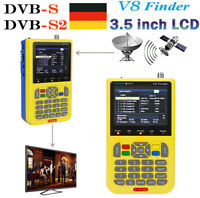 Satfinder Messgerät DVB-S / S2 Satelliten Finder Satellitensucher LCD Sat Finder
