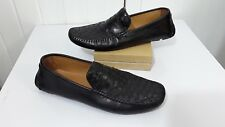 Saks Fifth Avenue Mens Moccasins Loafer Driving Shoe Black Leather  Sz 12 M