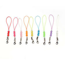 20/50pc Cell Phone Beads Lanyard Cords Strap Lariat Mobile Lobster Clasp DIY