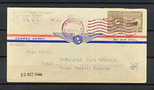 VENEZUELA 0341 AIR MAIL COVER 1948 Puerto Cabello to Germany Hamburg SEE 2 PHOTO