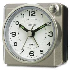 Acctim 14457 Casa Compact Bold Traditional Travel Alarm Clock snooze & light