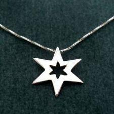 Plata de Ley 925 Estrella Charm Colgante Collar de Cadena Mujer Regalo Joyería