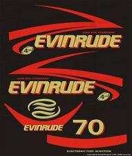 Adesivi motore marino fuoribordo Evinrude 70 cv Four stroke EPA gommone barca