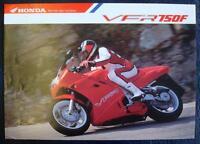 HONDA VFR 750F - Motorcycle Brochure - Undated - No Reference Number