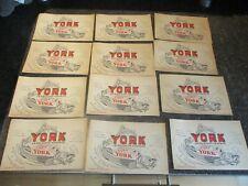 Buvard Lot de 12 Anciens : Filet de Morue York en Boite No Sardine