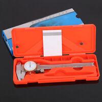 Pro 0-150mm Dial Vernier Caliper Stainless Steel Gauge Micrometer Measuring Tool