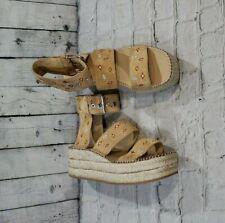 3cd322a4c Rag & Bone Tara Leather Suede Beige Espadrilles Wedge Sandals WOMENS SIZE  11/ 41