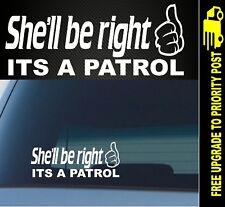Nissan Patrol Funny Sticker Cut Vinyl 4x4 Diesel GQ GU window Decal POPULAR