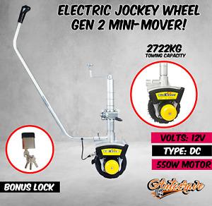 Motorised Electric Caravan Mini Mover Jockey Wheel GEN2 12v 550W Boat Trailer