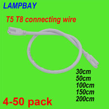 LED Tube Light Connecting cable 3 Pins Power Cords T5 T8 Fixture wire connector