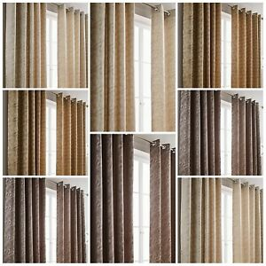 FAB GEOMETRIC EYELET FULLY LINED EYELET  CURTAINS (IN 3 FAB COLOURS) 20%OFF