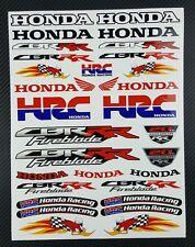 Honda CBR RR aufkleber set blatt 30 sticker HRC 600rr 1000rr fireblade Woody