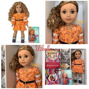 American Girl Doll Evette Peeters World By Us Collection Curly Caramel Hair NEW