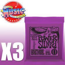 3 paquetes Ernie Ball Slinky Guitarra Eléctrica Cuerdas 11-48 Power