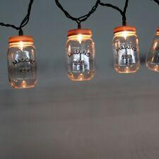 Rustic Mason Jar 1858 Indoor/Outdoor Porch Patio Garden String Lights