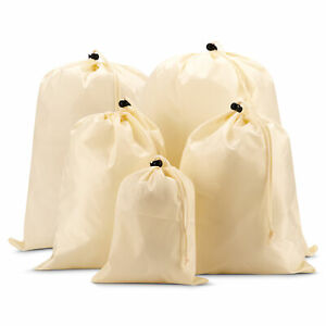 EAZY CASE 5x Suitcase Pack Bag Organizer Shoe Bag Laundry Bags Sack Cream