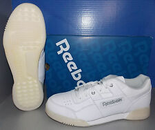 MENS REEBOK WORKOUT PLUS IN COLORS WHITE / PURE SILVER SIZE 13