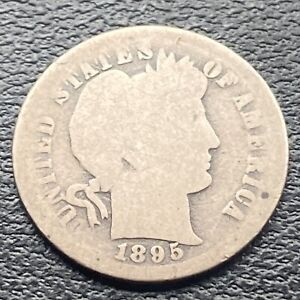 1895 O Barber Dime 10c VERY RARE Circulated #30576
