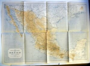 1914 National Geographic map of Mexico.