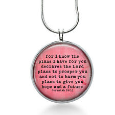 Bible Quote Necklace, Quote Pendant, saying, gifts for women,jewelry, necklace