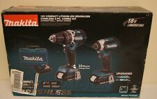 New! Makita 18V Compact Lithium Ion Brushless Cordless Drill & Driver Kit XT269R