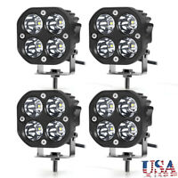 4PC LED Work Light Bar 40W Pods Spot Driving Lamp White SUV Truck Offroad 4WD US