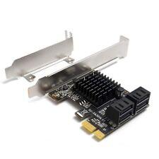 1X(PcIe SATA Card 4 Port SATA Controller Expansion Card with Low Profile Brack3)