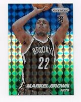 MARKEL BROWN 2014-15 PRIZM BLUE GREEN WHITE MOSAIC REFRACTOR RC ROOKIE # 285