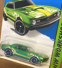 HW WorkShop '68 COPO CAMARO SS green flames Super Sport Hot Wheels 2015 have 3