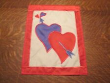 "(M) Small ""Valentines Day"" Outdoor Flag, Nylon, 13 x 10"""