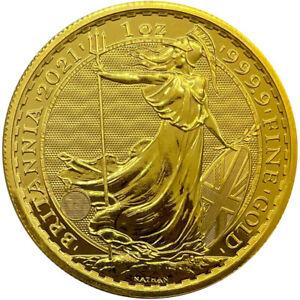 Goldmünze Britannia 2021 100 Pounds Großbritannien 1 oz in Stempelglanz KRATZER