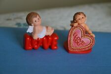 Hallmark Merry Miniatures Lot Of 2. 1981 Cupid-1983 Cherub Love.Mint With Tags.