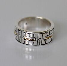 Konstantino Men's Ring Sz 11 Sterling Silver 18K Gold Perseus Wedding Band New